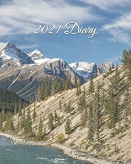 2021 Diary: Weekly Planner & Monthly Calendar - Desk Diary 2021, Saskatchewan, River, North American Wildlife, Raw Nature,...