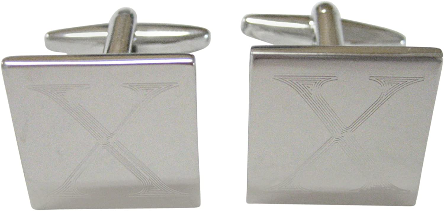 Al sold out. Letter X Etched Cufflinks Award-winning store Monogram