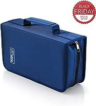 128 Capacity CD/DVD Case Holder, Storage Binder by CCidea (Blue) Specials
