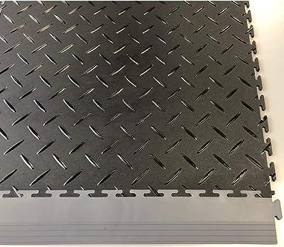 Alfombrillas Inc Protection - Azulejos de cochera, 52 x 2,5 x 0,25 Pulgadas, Color Gris Oscuro