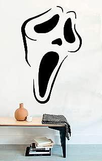 Scream Mask Vinyl Wall Decals Halloween Film Movie Vinyl Wall Decor Stickers MK5003