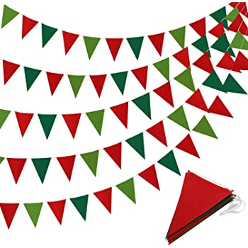 Birthday Party Triangle Shaped Cards Rope Hanger Decor Photo Prop Bunting Banner