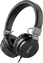 ONTA gorsun Foldable On Ear Audio Adjustable Lightweight Headphone for Kids Cellphones Smartphones iPhone Laptop Computer Mp3/4 Earphones (Black)