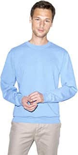 American Apparel Men's French Terry Long Sleeve Crewneck Pullover Sweatshirt