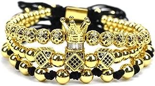Jewelry Crown Charms Men Bracelet Macrame Beads Bracelets For Women Bracelet Female Bracelet
