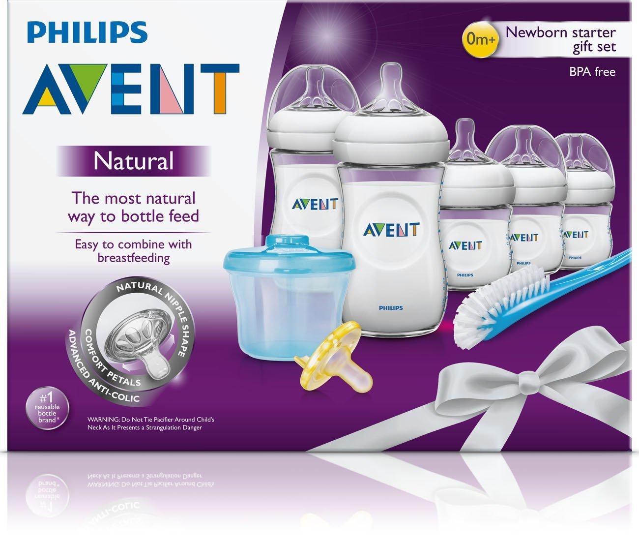 Philips Avent Natural Newborn Baby Bottle Starter Set, SCD296/02