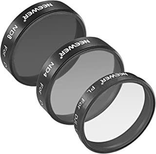 Neewer for DJI Phantom 3 Professional and Advanced, 3 Piece Filter Set: (1) Polarizer Filter + (1) ND4 Filter + (1) ND8 Filter, Not for DJI Phantom 3 Standard