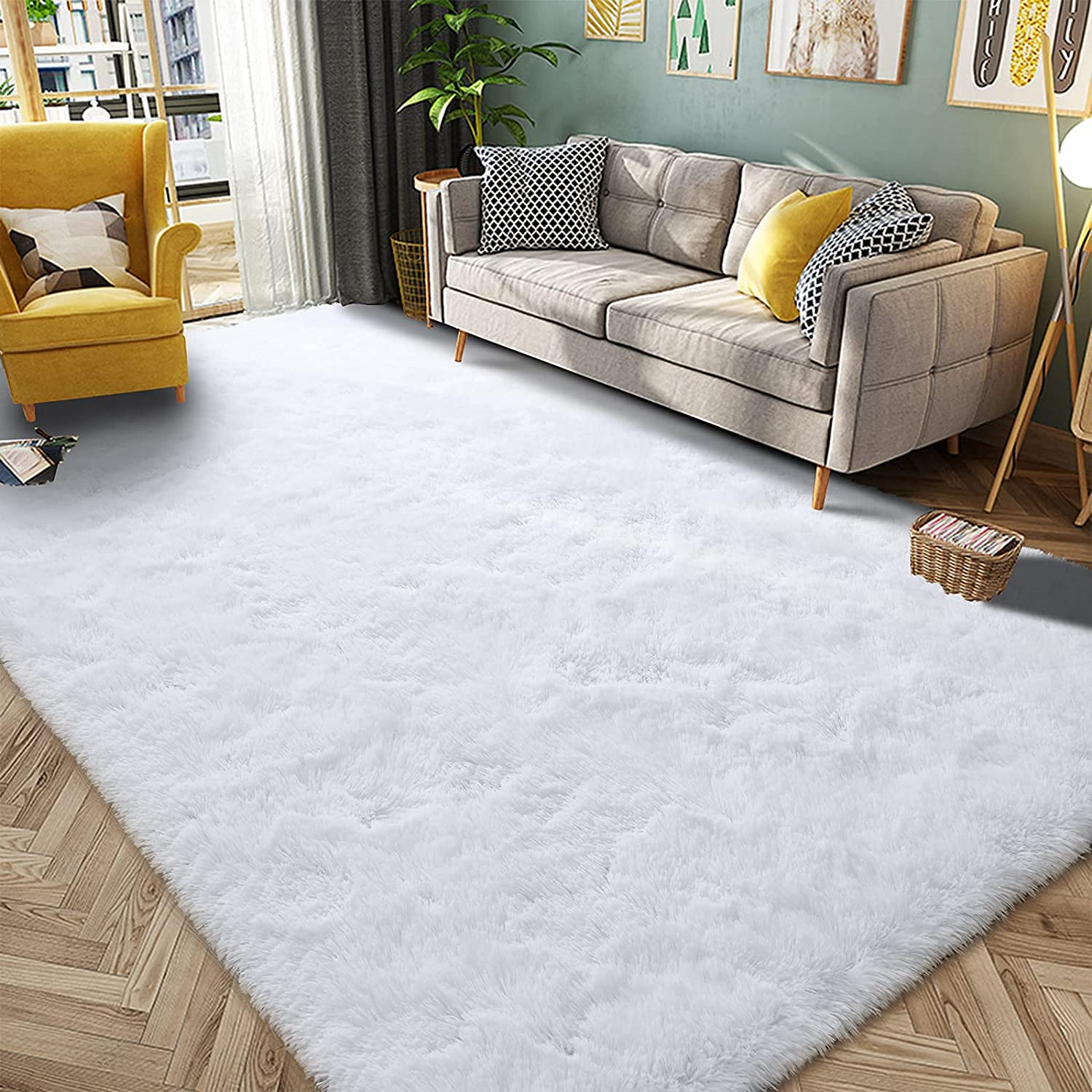 HQAYW Ranking TOP5 Modern Fluffy Area Rug Shaggy shopping Roo Rugs for Living Bedroom