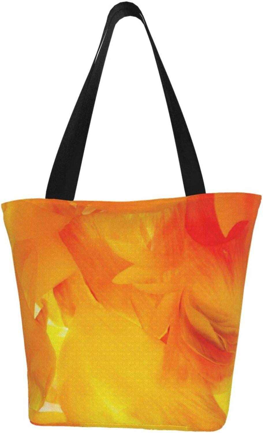 Time sale AKLID Golden Colorful Extra Large Canvas Tote Ba sale Water Resistant