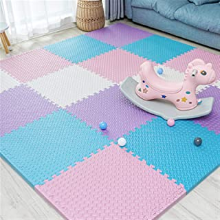 Foam Floor Tiles Sound Absorbing Waterproof Foam Mats for Kids Used for Living Room, Indoor Playground, Gym, 1.2cm/2.5cm, ...