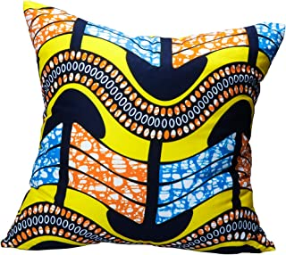 Throw Pillow Cover 18 x 18 Inch, African Ethnic Style Cushion Cover Double Side Printed Square Pillow Case with Hidden Zipper Closure for Sofa, Couch, Bed, Car Decoration