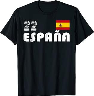 Spain World Championship Cup Soccer Team T-Shirt Jersey #22