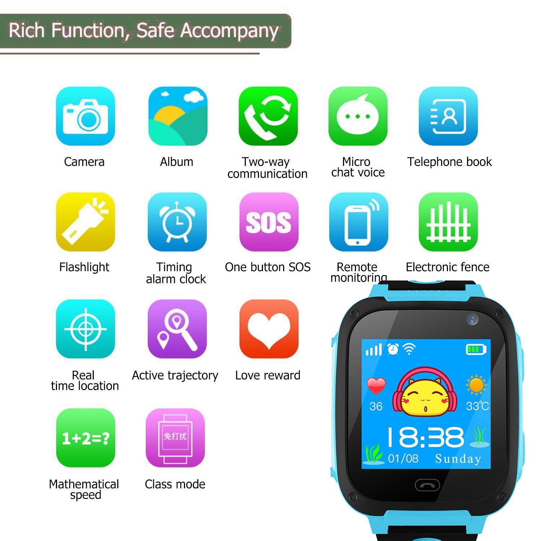 TDH Niños Inteligente Relojes, GPS Kids SmartWatch con Camara ...