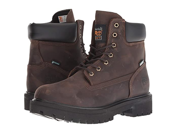 Timberland PRO  Direct Attach 6 Steel Toe (Brown Oiled Full-Grain Leather) Mens Work Lace-up Boots