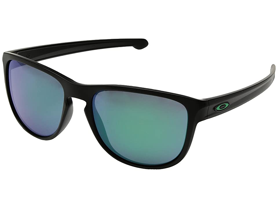 Oakley Sliver R (Matte Black w/ Jade Iridium) Fashion Sunglasses