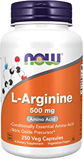 NOW Supplements, L-Arginine 500 mg, Nitric Oxide Precursor*, Amino Acid, 250 Capsules