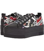 LOVE Moschino - Graffiti Print Platform Sneaker