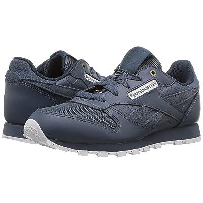 Reebok Kids Classic Leather (Little Kid) (Deep Seqa/Fuji/White) Kids Shoes