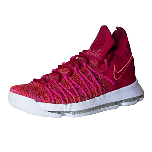 new arrival e6a5e 4a91e Nike Mens Zoom KD 9 Basketball Shoe 10.5 Men US University Red Palest Purple