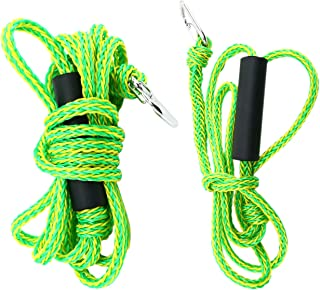 Amarine Made 2 Pcs Bundle 7ft & 14ft Lengths Premium PWC Dock Lines,Tow Ropes,Kayak Ropes, Heavy Duty Braided Line