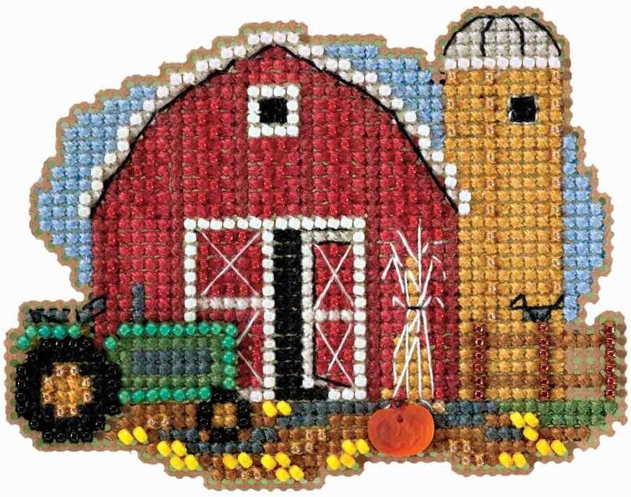 Mill shipfree Hill Harvest Barn Beaded Kit Special price for a limited time Ornament Counted Cross Stitch