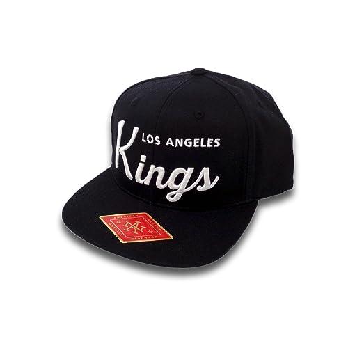 9b7bf38be18 American Needle Los Angeles Kings Script Logo Snapback Hat Black