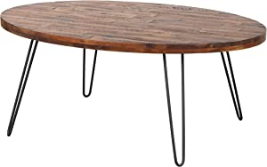 Belmont Home Chelsea Oval Cocktail Table, 44 inch, Dark Brown