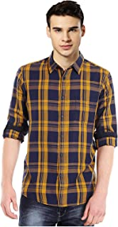 IndoPrimo Men's Checkered Cotton Casual Shirt Full Sleeves