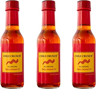 Chile Crunch Non-GMO Hot and Spicy Chili Crisp Cooking Oil, Perfect for Chinese Food, Szechuan, Vietnamese Food, or Japanese Spicy Rayu (3 Pack)