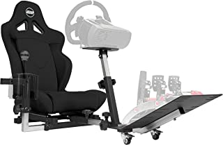 Openwheeler GEN2 Racing Wheel Stand Cockpit Black on Black | Fits All Logitech G29 | G920..