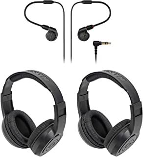 $108 » Audio Technica ATH-E40 Professional in-Ear Monitor Earphones+2 Samson Headphones