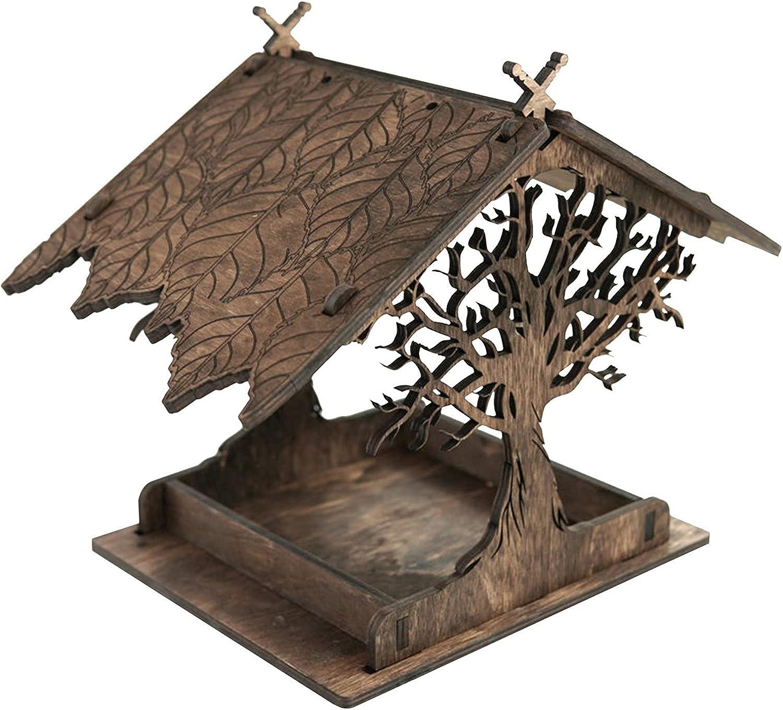 Finally resale start HTTMHU Feeder Sales Wooden Bird Gar House Birdhouse