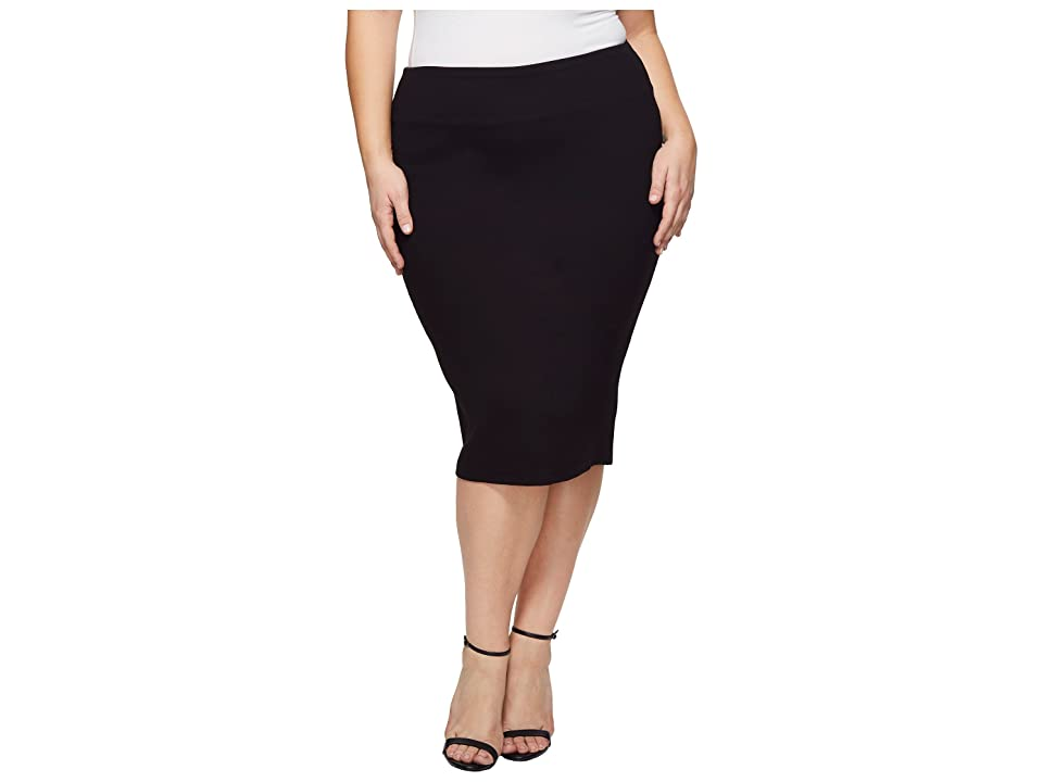 KARI LYN Plus Size Marnie Pencil Skirt (Black) Women