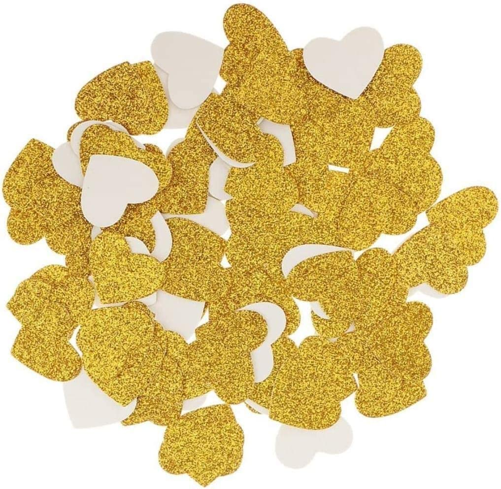 Quality inspection Toy 100pcs Glitter Gold Heart Paper Shape Bombing free shipping Wedding Party Confetti