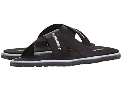 DSQUARED2 Crossover Sandal (Black) Men