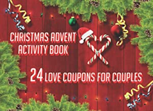Christmas Advent Activity Book 24 Love Coupons For Couples: Stocking Stuffer For Adult White Elephant Gag Gift I Love You ...