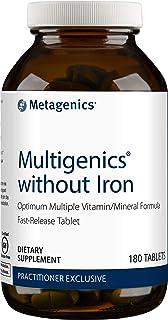 Metagenics Multigenics® without Iron – Optimum Multiple Vitamin/Mineral Formula Fast-Release Tablet – 30 servings