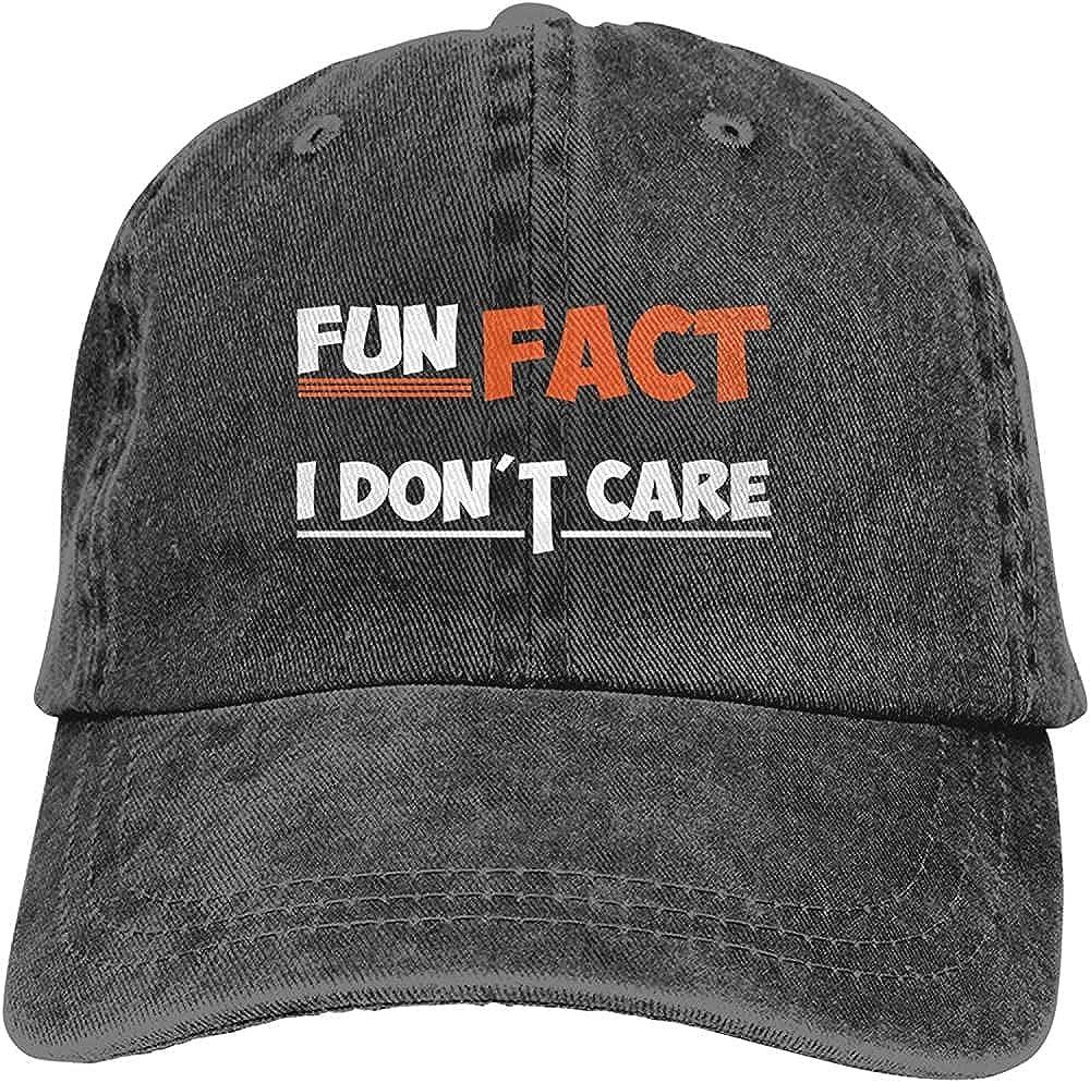Fun Fact I Don t Care Hat I Don t CareCotton Adjustable Retro Washable Cowboy Hat Unisex Baseball Cap Trucker Hat