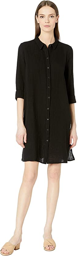 Organic Cotton Gauze Shirtdress
