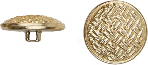 product image for C&C Metal Products 5037 Weave Metal Button, Size 30 Ligne, Gold, 36-Pack