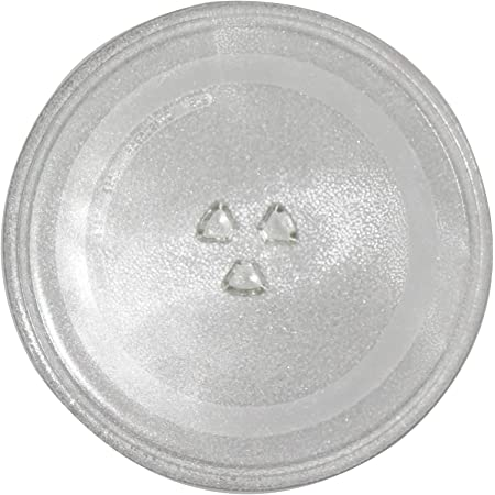 Diameter 9.6inch//24.5cm Thickened Heat Resistant Microwave Glass Plate Turntable Tray Accessories for Small Microwaves