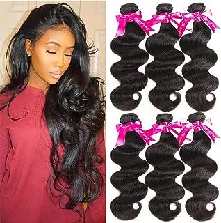 Beauty Princess Brazilian Virgin Hair Body Wave 8A Virgin Unprocessed Human Hair Weave 3 Bundles(16 18 18)