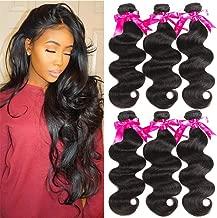 Beauty Princess Brazilian Virgin Hair Body Wave 8A Virgin Unprocessed Human Hair Weave 3 Bundles(18 20 20)
