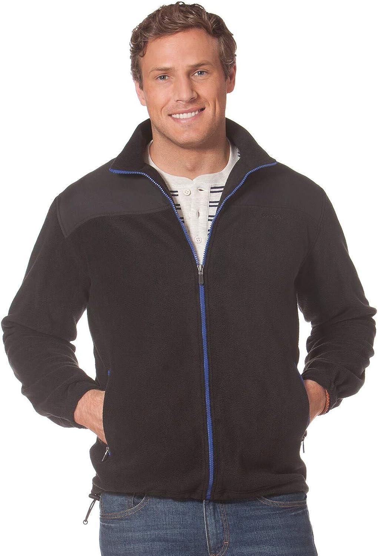 Chaps by Ralph Lauren Men's Colorblock Soft Polar Fleece Full-Zip Jacket