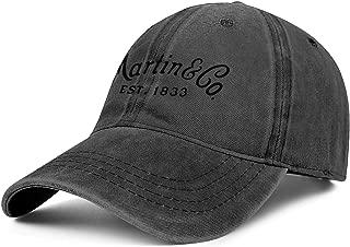 Mens Womens C.-F.-Martin-Logo- Adjustable Classic Summer Hats Trucker Washed Dad Hat Cap