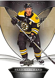 2018-19 Upper Deck Trilogy Hockey #12 Brad Marchand Boston Bruins Official Trading Card From UD