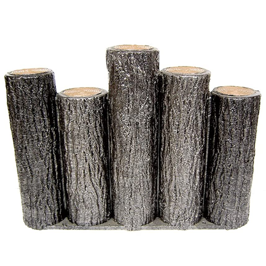 一生北方事前にサンポリ 樹脂製擬木はなえ 5連段違い杭タイプ H300 (1本)