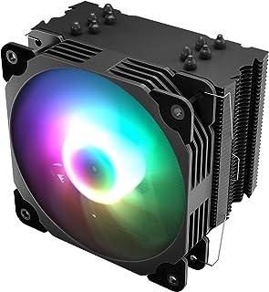 Vetroo CPUクーラー 120mm ARGB LED搭載 PWM自動制御 ヒートパイプ CPUファン 高精度 静音 空冷CPUクーラー Intel/AMD対応 アルミニューム 修理/交換/DIY仕組み V5 CPUクーラー