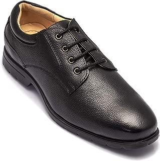 tZaro Light Weight Genuine Leather Formal Shoes MR Lawyer,DERBLK2501