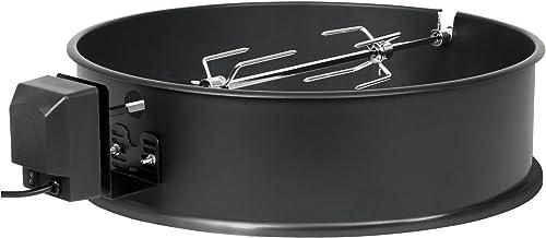 BBQ-Toro Grillspieß Set für Weber Kugelgrill 57 cm und viele andere Modelle, Rotisserie, Drehspieß für Holzkohle Grill und Gas Grill, elektrischer Drehspiess, Barbecue